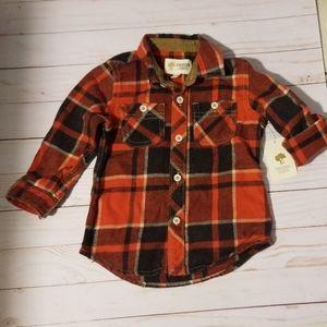 Tucker + Tate plaid button down shirt